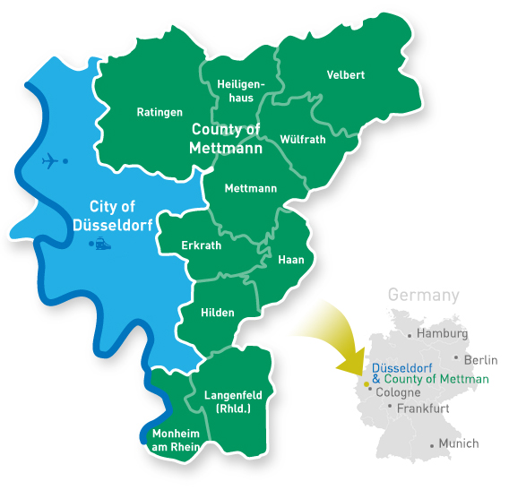 Map Of Germany Showing Dusseldorf.State Capital Dusseldorf Expat Service Desk Servicestelle Fur